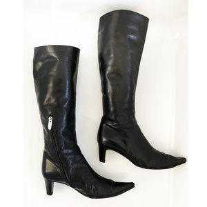 Sergio Rossi Knee High Leather Boots, sz 7